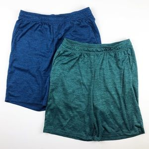 All In Motion Bundle of 2 Athletic Shorts Medium